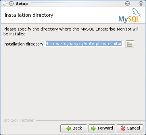 Installing the MEM 3.0 Service Manager - Step 4: Choose the installation directory